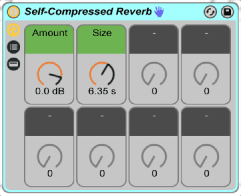 Self Compressed Reverb
